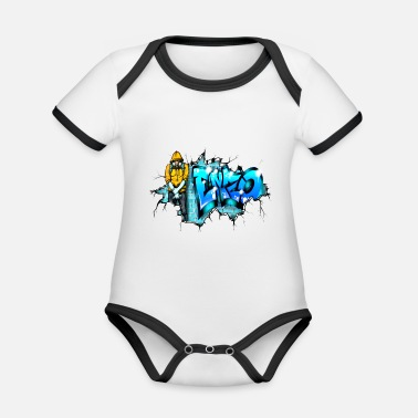 Enzo Graffiti GRAFFITI ENZO PRINTABLE ON EVERYTHING - Organic Contrast Baby Bodysuit