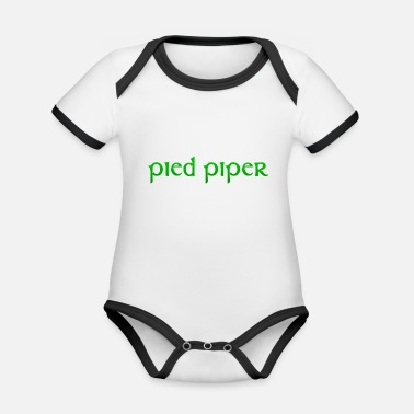 Silicone pied piper Silicon Valley gift - Organic Contrast Baby Bodysuit