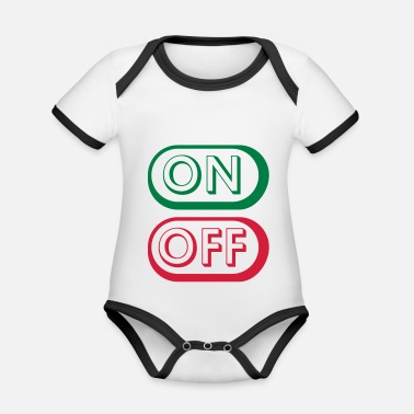 Off On Off Buttons - Vauvan kontrastivärinen body