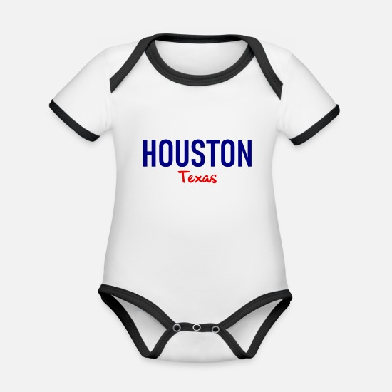 Houston Baby Clothes - Houston - Texas - United States - United States - US - Organic Contrast Baby Bodysuit white/black