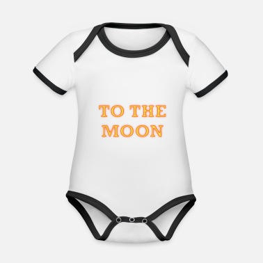 To the moon - Organic Contrast Baby Bodysuit