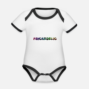 Lsd Psychedelic - Organic Contrast Baby Bodysuit