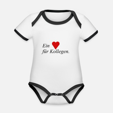 Colleagues A heart for colleagues - Organic Contrast Baby Bodysuit