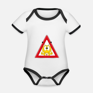 Lapsi ATTENTION - CAUTION BIENE - HUMMEL - WESPE - TIER - Organic Contrast Baby Bodysuit