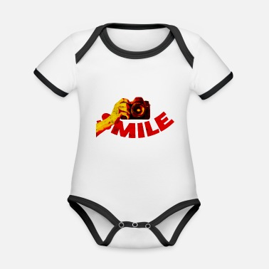 Smile Smile - smile - Organic Contrast Baby Bodysuit