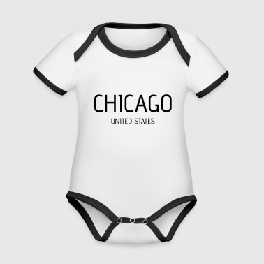 Chicago Chicago - Organic Baby Contrasting Bodysuit