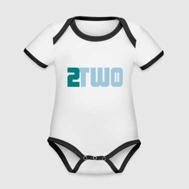 two two doubles - Organic Baby Contrasting Bodysuit