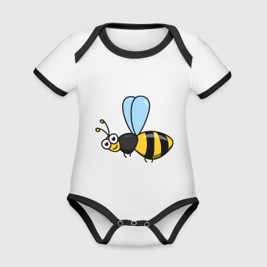 Bee honey bee - Organic Baby Contrasting Bodysuit