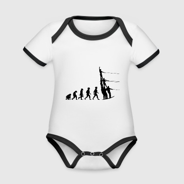 Evolution water skiing water sports - Organic Baby Contrasting Bodysuit