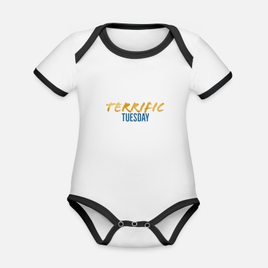 Days Of The Week Terrific Tuesday - The Week Days Collection - Organic Baby Contrasting Bodysuit