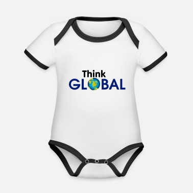 Global Think Global / global - Organic Contrast Baby Bodysuit