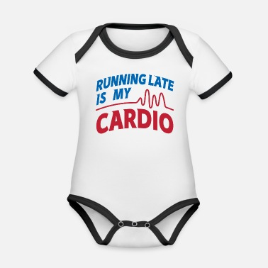 Wretch Cardio Running Late Graphic - Organic Contrast Baby Bodysuit