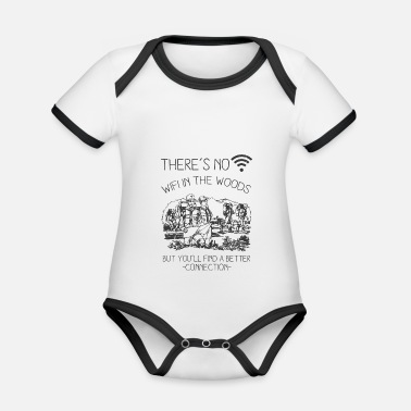 Nature Lovers Nature lovers - Organic Contrast Baby Bodysuit