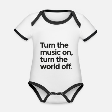 Turn On Turn the music on - Organic Contrast Baby Bodysuit