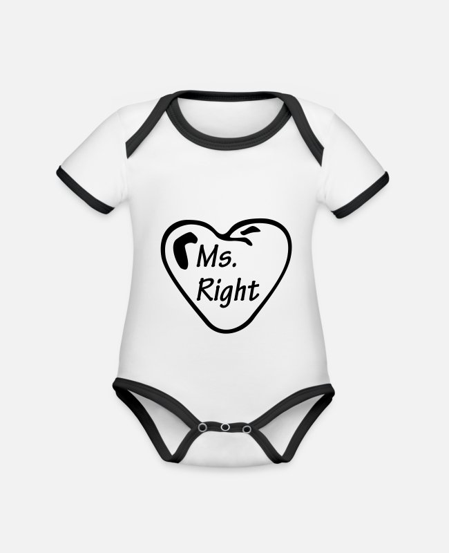 Corazon Baby bodies - Ms Right - Rompertje tweekleurig wit/zwart