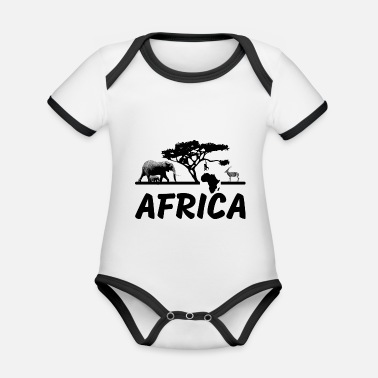 Africa africa - Organic Contrast Baby Bodysuit