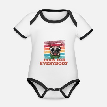 Hound Dogs For Everybody Funny Gift For Dogs Lovers - Organic Contrast Baby Bodysuit