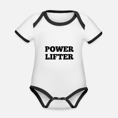 Powerlifting powerlifters - Organic Baby Contrasting Bodysuit