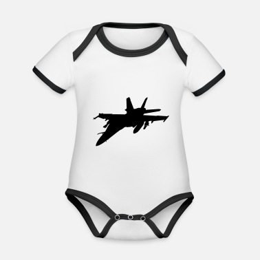 Fighter fighter aircraft fighter - Organic Contrast Baby Bodysuit