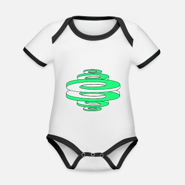 Curves Optical illusion (curved curves / circles) - Organic Contrast Baby Bodysuit