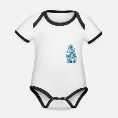 Armstrong Gift Heartbeat Astronatu - Organic Baby Contrasting Bodysuit