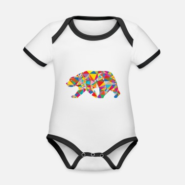 Cult Bear - Low Poly - Art - Organic Contrast Baby Bodysuit