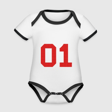 Number 01 Number Number - Organic Baby Contrasting Bodysuit