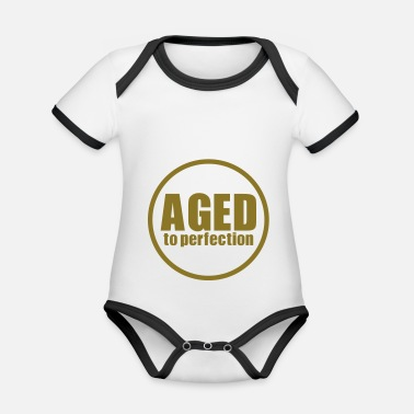 Greypowered.com Aged to perfection - Organic Contrast Baby Bodysuit