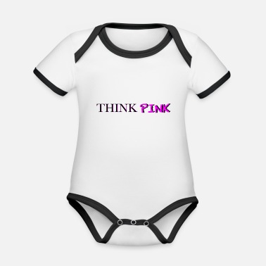 Think Pink THINK PINK - Organic Contrast Baby Bodysuit
