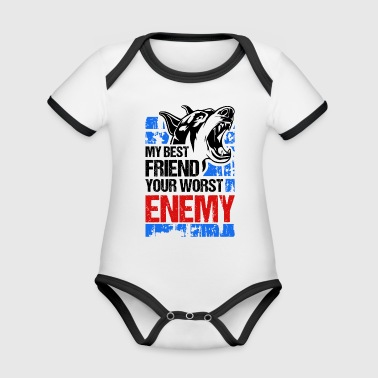 My best friend - your worst enemy - Organic Baby Contrasting Bodysuit