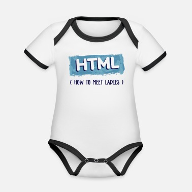 Programmemer HTML Graphic - Organic Contrast Baby Bodysuit