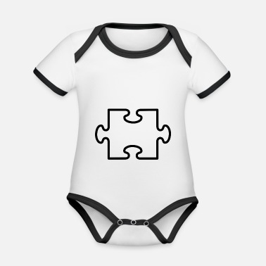 Puzzle puzzle - Organic Baby Contrasting Bodysuit