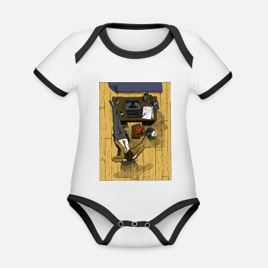 Office Office - Organic Baby Contrasting Bodysuit