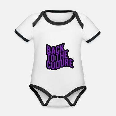Culture Back To The Culture - Organic Baby Contrasting Bodysuit