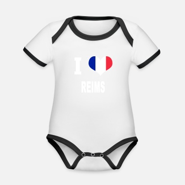 Reims I Love REIMS - Organic Baby Contrasting Bodysuit