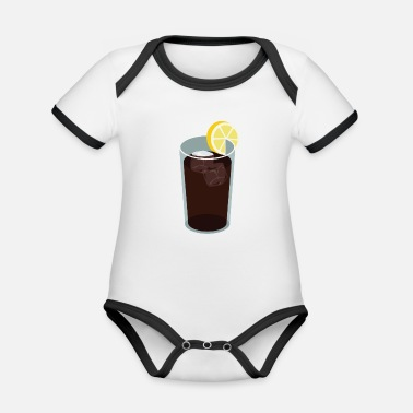 Cola cola - Organic Contrast Baby Bodysuit