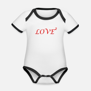 Lovely LOVE love Loved love romantic i love - Organic Baby Contrasting Bodysuit