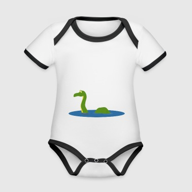 Lake monster sea - Organic Baby Contrasting Bodysuit