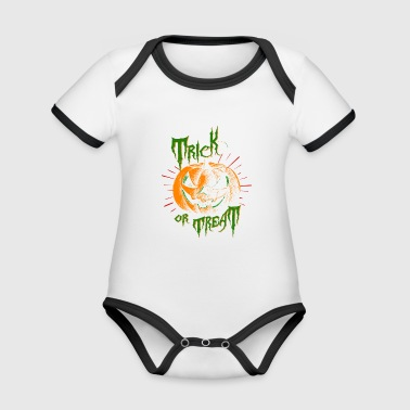 TRICK OR TREAT - Baby Bio-Kurzarm-Kontrastbody
