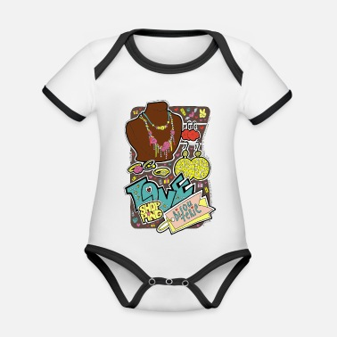 Girlie Love shopping, fashion, style, mode. Bijouterie. - Organic Contrast Baby Bodysuit