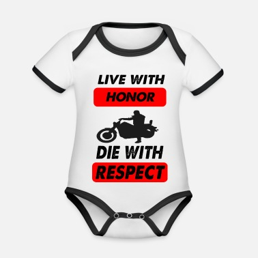 Die die with respect - Organic Contrast Baby Bodysuit