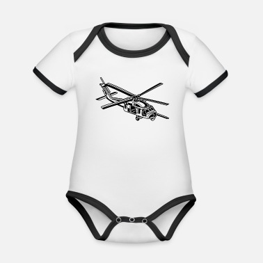 Royal Air Force Helicopter / helicopter 01_black - Organic Baby Contrasting Bodysuit