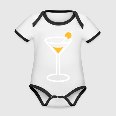 Martini Martini Cocktail Glass - Organic Baby Contrasting Bodysuit