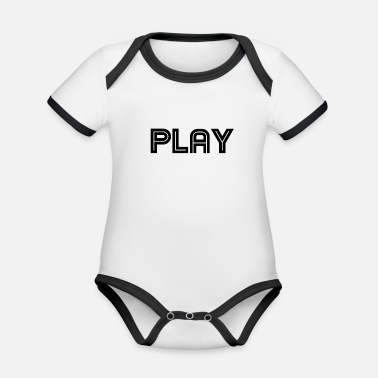Playing play - Organic Contrast Baby Bodysuit