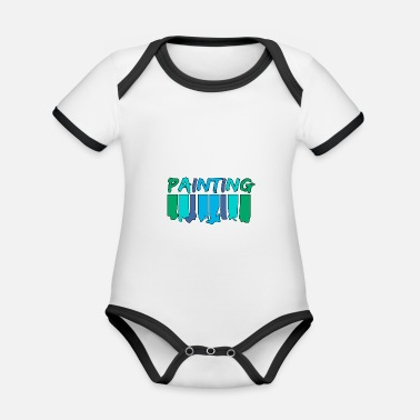 Painting Painting - painting - Organic Contrast Baby Bodysuit