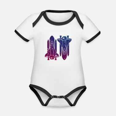 Missile Missiles - Organic Contrast Baby Bodysuit