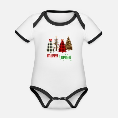 Bright Merry And Bright - Organic Contrast Baby Bodysuit
