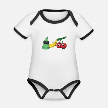Fruit fruit Party - Organic Contrast Baby Bodysuit
