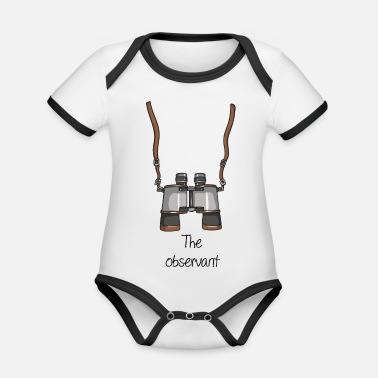 Watcher The Attentive - Watcher - Organic Contrast Baby Bodysuit