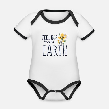 Wiese Feelings from the Earth Blumenstrauß Blume Pflanze - Baby Bio Kurzarmbody zweifarbig